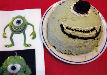 Halloween cake of Mike from Monsters Inc.